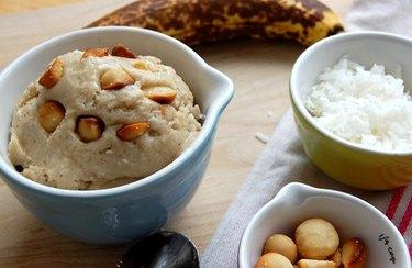 Banana Coconut & Salted Macadamia Nut Ice Cream healthy homemade ice cream recipes
