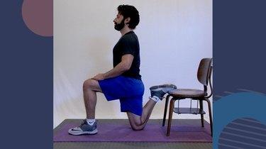4. Rear-Foot Elevated Quad Stretch