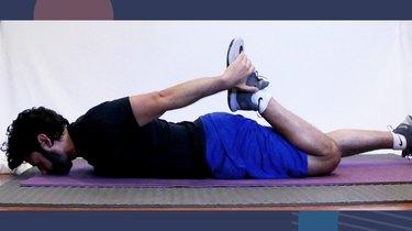 5. Prone Quad Stretch