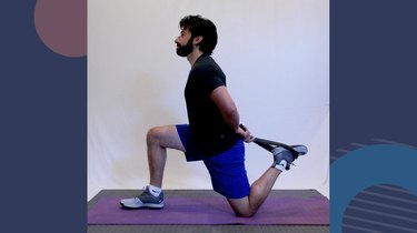 2. Kneeling Hip Flexor Stretch With Rear Foot Grab