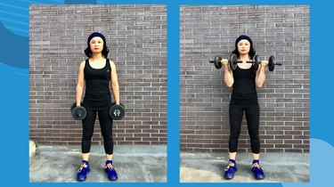 Move 1: Standing Dumbbell Curl