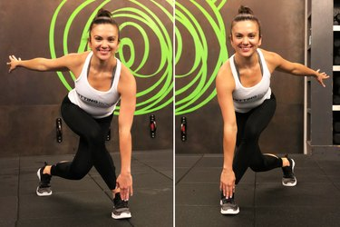 Speed skater exercise for HIIT body weight workout