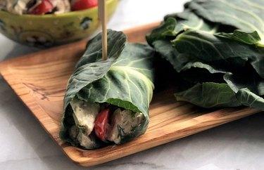 Tangy Tuna Salad in Collard Wrap collard greens recipes