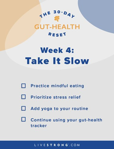 illustration of week four of the 30-day gut-health reset goals checklist