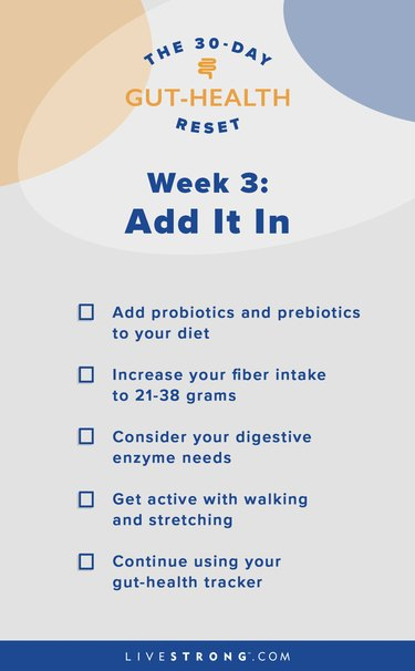 illustration of week three of 30-day gut-health reset goals