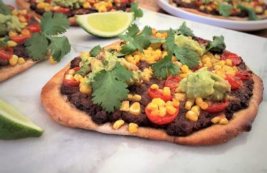 Corn recipes Vegetarian Mexican Personal Pizzas