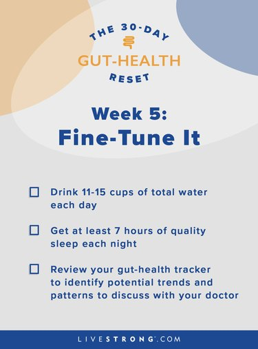illustration of week five of the 30-day gut-health reset goals checklist