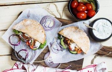 Tzatziki Rotisserie Chicken Pita rotisserie chicken dinner recipes