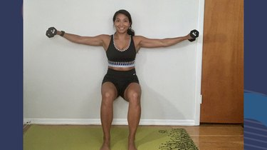 Move 4: Wall Sit With Lateral Raise