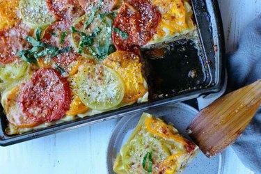 Heirloom Tomato Lasagna Greek yogurt dinner recipes