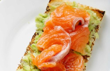 Healthy Breakfast Smoked Salmon Avocado Toast