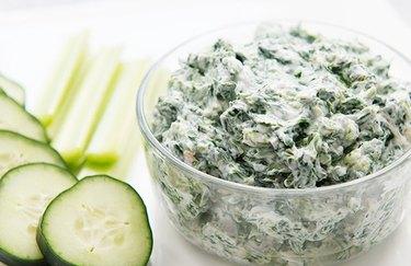 Creamy Spinach Dip Snack cucumber dip