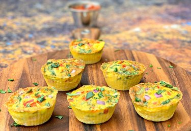 Air Fryer Bacon And Egg Bite Cups air fryer breakfast recipes