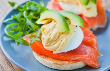 Salmon and avocado brain food healthy breakfast