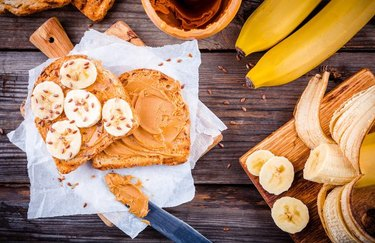 Breakfast Biscuits with Banana and Nut Butter high-protein breakfast