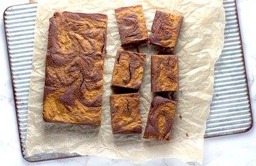 Pumpkin Swirl Brownies keto desserts
