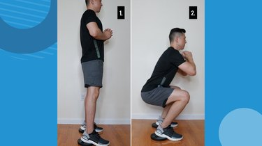 5. Heels-Elevated Squat