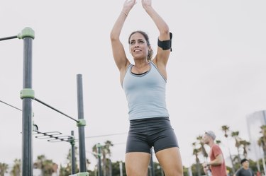 Woman doing 20-minute HIIT workout