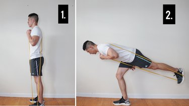 Move 3: Band-Assisted Inverted Hamstring Stretch