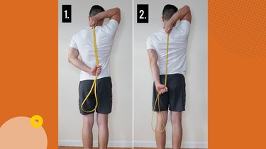Move 4: Band-Assisted Triceps Stretch