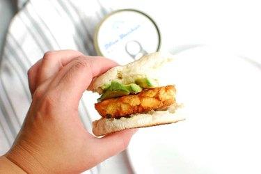 Easy Salmon Patty Breakfast Sandwich