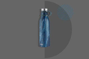 Hydro Flask Standard Mouth Stainless Steel Water Bottle on dark gray background