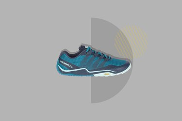 Merrell Trail Glove 5 Trail Running Shoes on gray background