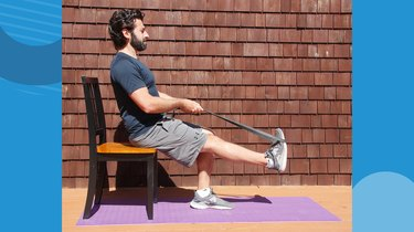 2. Seated Calf Stretch With Band