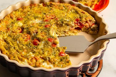 Egg Casserole with Salmon and Tomato