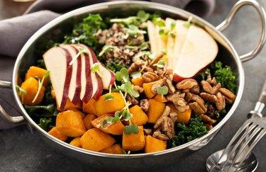 Fall Kale Apple Walnut Salad