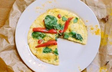 Masala omelet anti-inflammatory breakfast recipe.