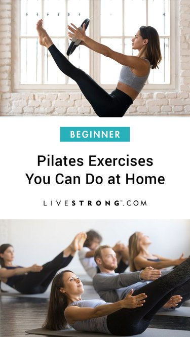 Beginner Pilates exercises you can do at home graphic