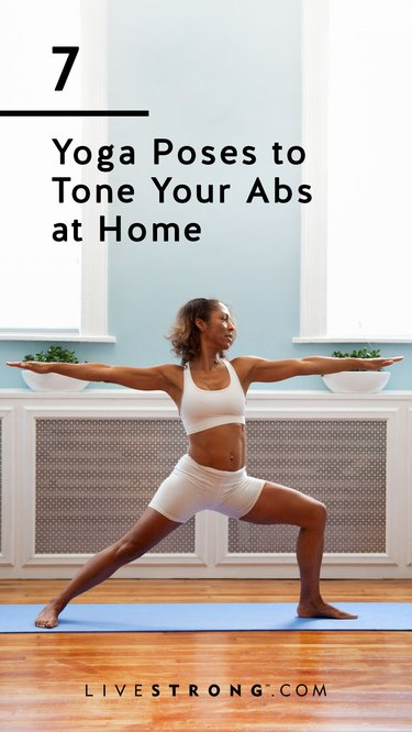 Yoga poses to tone your abs at home graphic