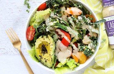 Mark Sisson's go-to keto salad with avocado