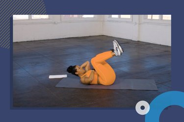 photo of IS Wellness founder Ingrid Clay doing at-home core workout