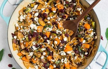Sweet Potato Pasta with Brussels Sprouts recipe