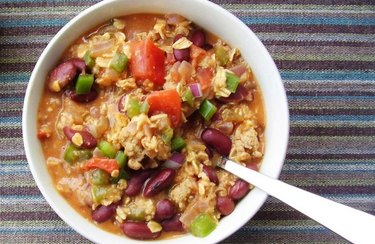 Stewed Cajun Turkey, Red Beans and Oats recipe