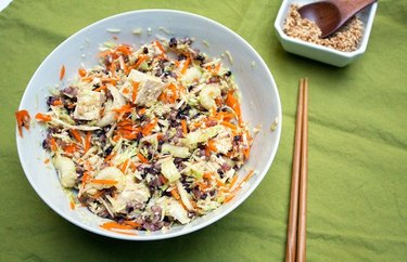 Tofu and Mixed Rice Grain Salad leftover rice dinner recipes