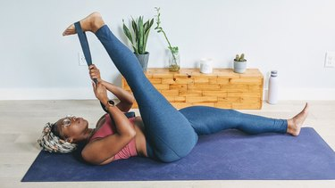 Move 7: Reclining Hand-to-Big-Toe Pose (Supta Padangusthasana)