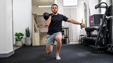 1. Unilateral Front Rack Lunge