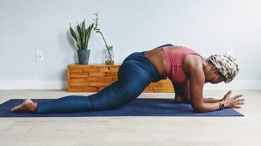 Move 4: Lizard Pose (Utthan Pristhasana)