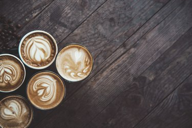 Coffee in a row