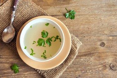 Chicken broth as a liquid diet for pancreatitis