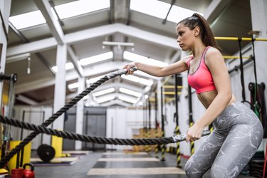 Battle Rope Workout On Cross Training