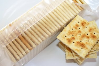 Soda Crackers, also known as saltines are ideal as a snack and with soup