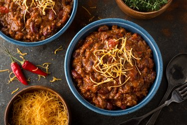 Chili with shredded cheese, as an example of food to gain weight for females