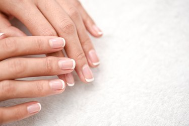 Beautiful Woman Hands. Spa and Manicure concept. Soft skin, skincare concept.