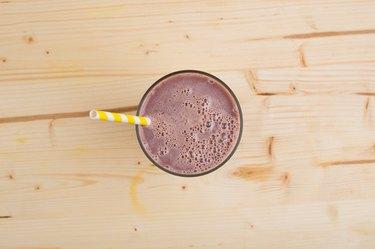 Chocolate Milkshake on wooden table