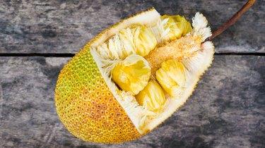 Chempedak, A Type Of Jackfruit on old wooden