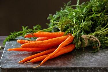 Heap of ripe carrots